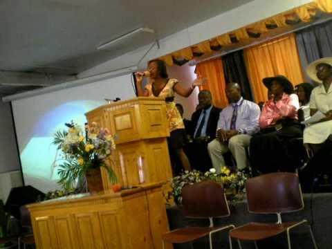 "Patria Singing ""Four Days Late"" at the Kings SDA in Cayman Island"