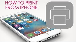 How To - Print wirelessly from iPhone, iPad, or iPod Touch