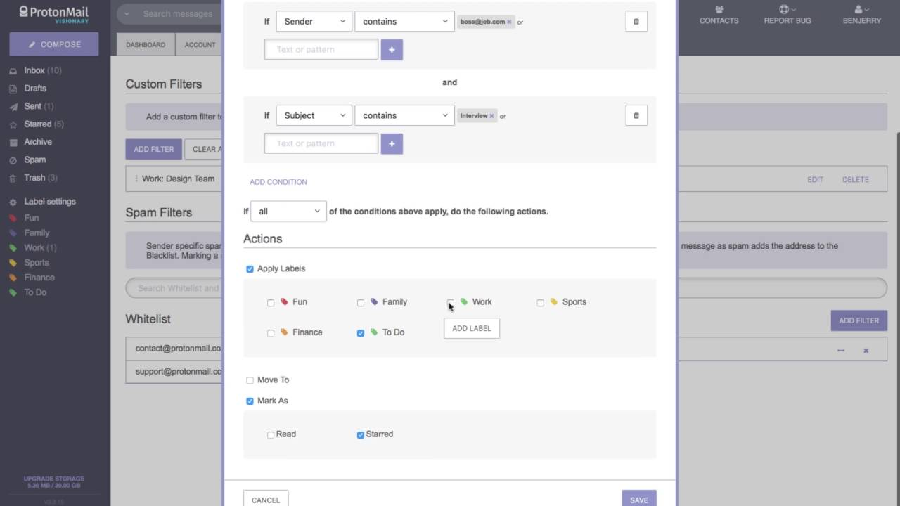 How to use filters? - ProtonMail Support