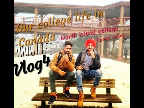 #vlog4 Our college life in Canada North Island collage Comox Velley