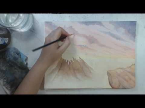 Watercolor Demo | Original Painting: Lights Standards