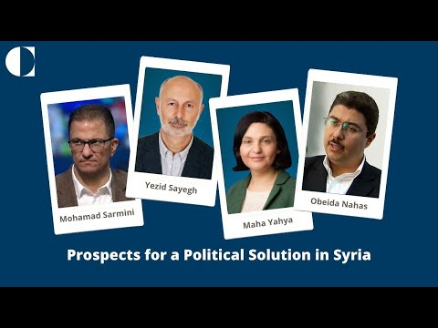 Panel Discussion | Prospects for a Political Solution in Syria