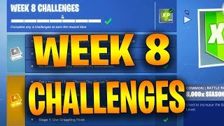 Fortnite ALL Season 8 Week 8 Challenges Leaked (Planes are back-Jigsaw Puzzle-treasure map signpost)