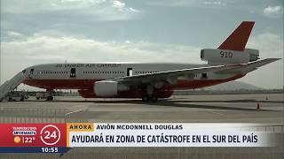 Aterriza en Chile el avión 10 Tanker que combatirá los incendios forestales