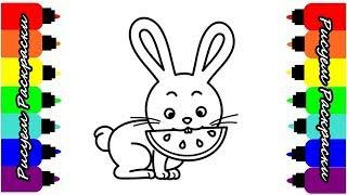 Раскраска Для Детей Кролик Как Рисовать Кролика Рисуем Раскраски