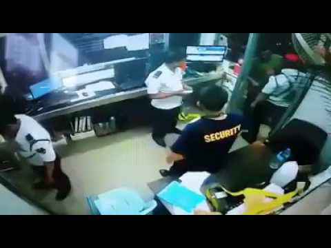Tamil vs Nepalese Security Guard fight in Malaysia