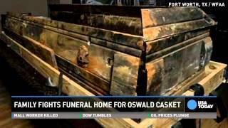 Fight over Lee Harvey Oswald's crumbling casket