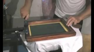 видео Печать методом шелкографии