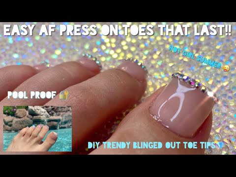 Let's make press on toes   easy + pool proof   no acrylic   Vanity Val
