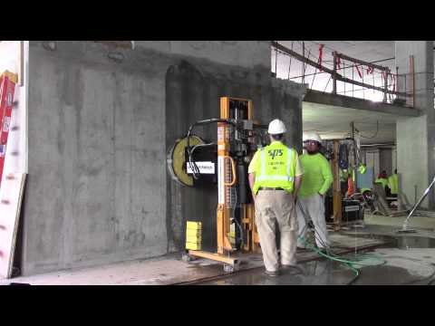 Vertical Concrete Surface Prep