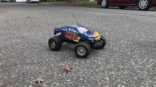 Tamiya tnx nitro rc monster truck running and cold start fun