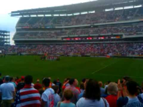 Usa turkey soccer post game on the Linc