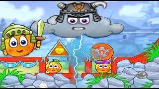 Funny Cartoon Game Cover Orange Om Nom #2  Врятувати Апельсин Ам Ням від Злої Хмаринки Веселий Мультик Гра