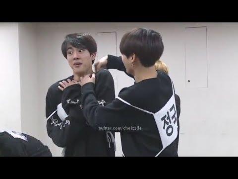 진국/JK PUTTING HIS HAND DOWN JIN'S SHIRT/Jinkook moments(4th muster) PART 1
