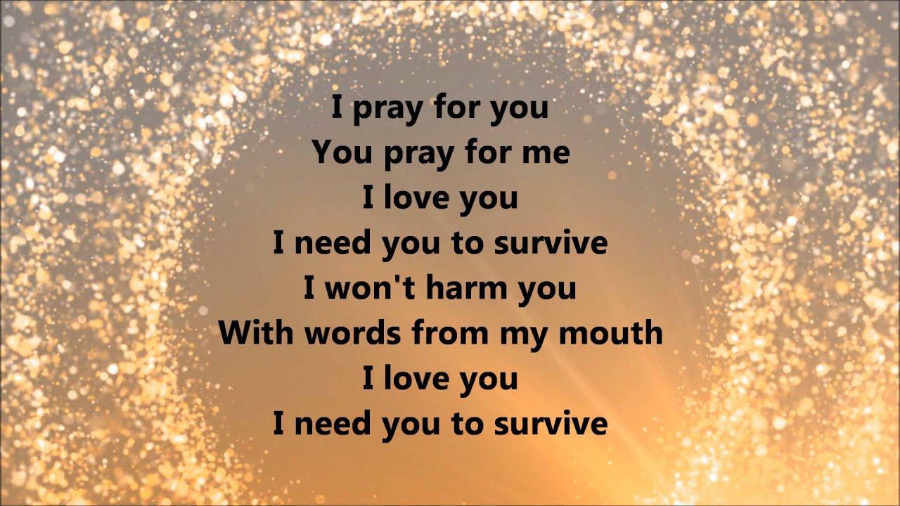 I need you to survive lyrics kirk franklin