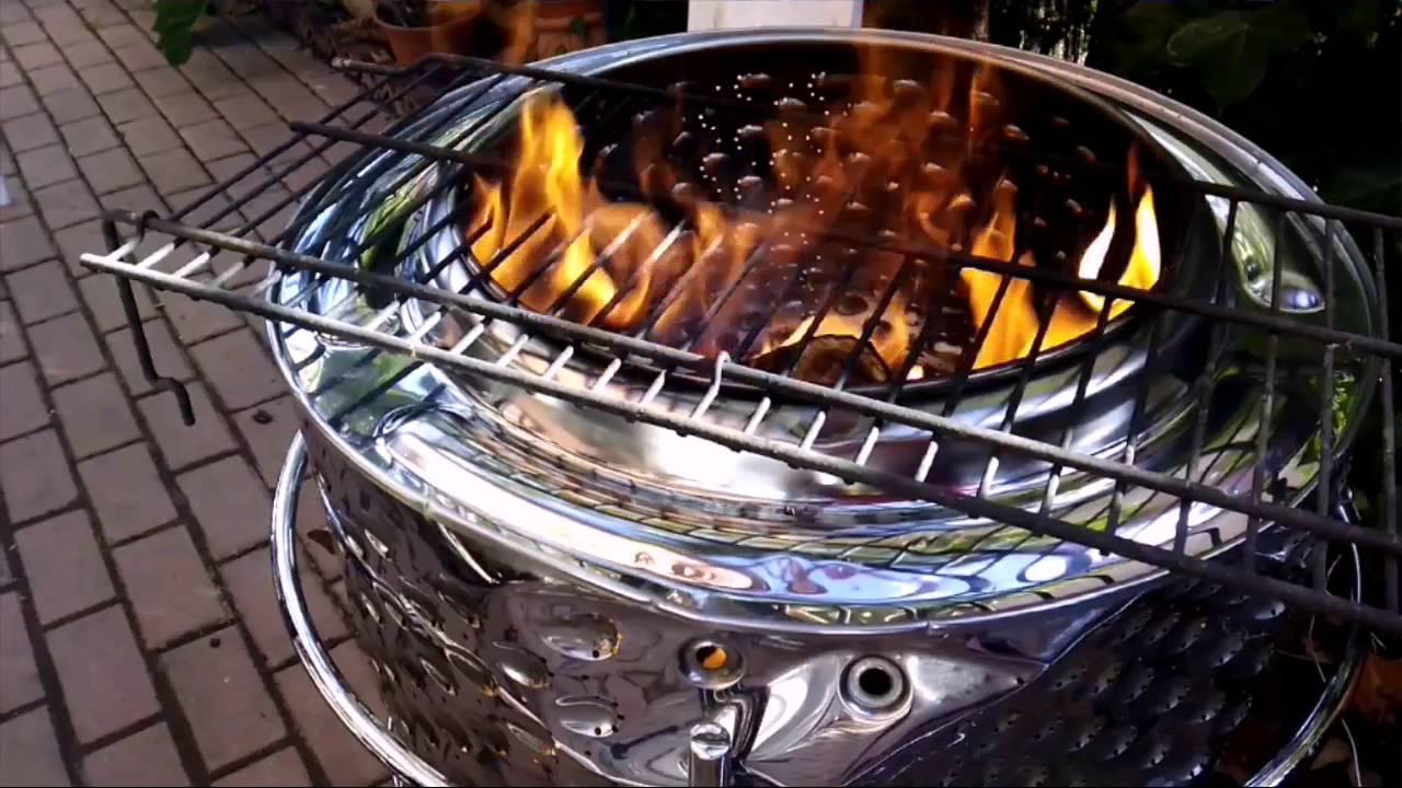 Hacer una barbacoa con una lavadora diy 2 youtube - Como hacer una barbacoa casera ...