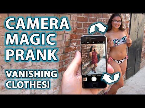 Girl's Clothes VANISH! -  How to Camera Magic Prank!!