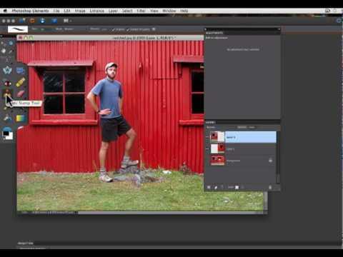 Photoshop Elements Tutorials- Remove Part Of Photo
