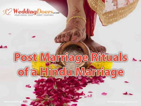 Post Marriage Rituals of a Hindu Marriage