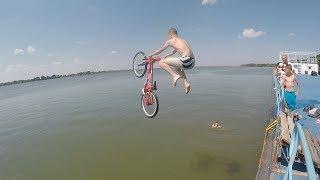 Skacemo biciklama u DUNAV !!!