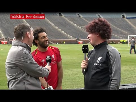 Mo Salah interview with Robbie Fawler on LFC TV