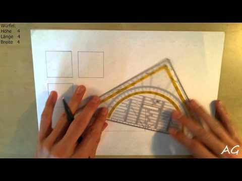 Technisch Zeichnen Tutorial: Dreitafelprojektion & dimetrisches Raumbild #1 (German Deutsch)