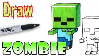 How to Draw Mincraft Zombie - Coloring Pages