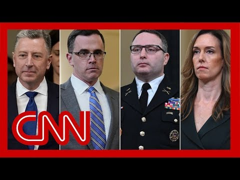 Trump impeachment hearings: Vindman, Williams, Volker and Morrison