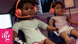 Super Silly Sleepover | Then Vs Now Stop Motion | @American Girl