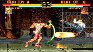 [TAS] King VS Micky (Art of Fighting)