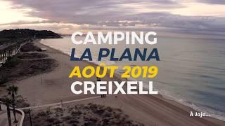 Camping La Plana vu du ciel