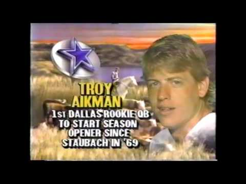 Troy Aikman to Michael Irvin September 10, 1989
