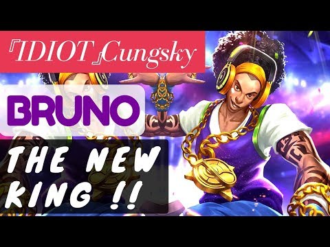 The New King !! [Rank 1 Bruno] |Bruno Gameplay and Build By 『IDIOT』Cungsky #1 Mobile Legends