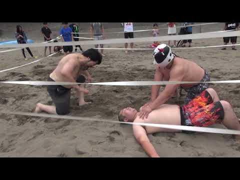 信州プロレス 2019-07-14 谷浜海水浴場マッチ午前の部