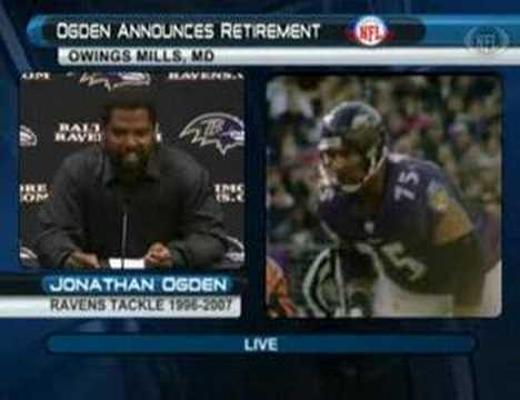 Jonathan Ogden Retirement Speech