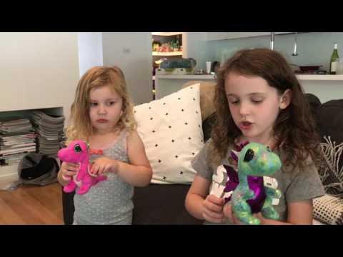 Ava and Harlow Xmas eve 2016  Dragons!!