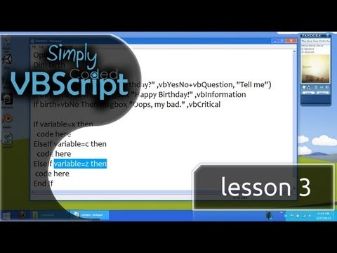 VBScript Basics, Part 3 | If - ElseIf - Else - Then Statements