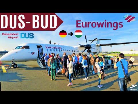 EUROWINGS DASH 8 Q400 | TRIPREPORT | DÜSSELDORF - BUDAPEST | EW 9784 | BASIC | HD