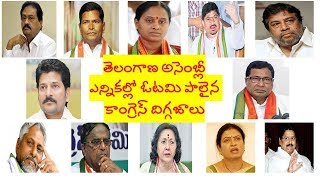 Congress Senior Leaders Lose Big | Telangana Assembly Elections