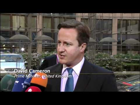 Cameron says it is a British interest to solve the crisis