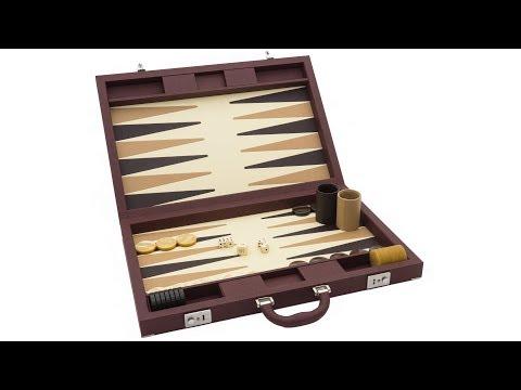 Dal Negro Luxury Backgammon Case in Brown [DN307M]