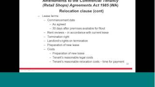 Lavan Legal Webinar: Amendments to the Commercial Tenancy (Retail Shops) Agreements Act 1985 (WA)