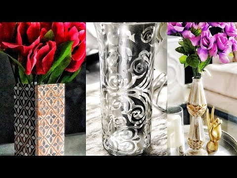 DIY Dollar Tree Decorative Vases - Easy & Pretty!