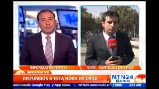 Manifestación estudiantil en Chile termina con hechos de violencia