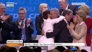 Verkündung der Wahl von Annegret Kramp-Karrenbauer zur Generalsekretärin der CDU am 26.02.18