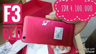 unboxing oppo f3 red