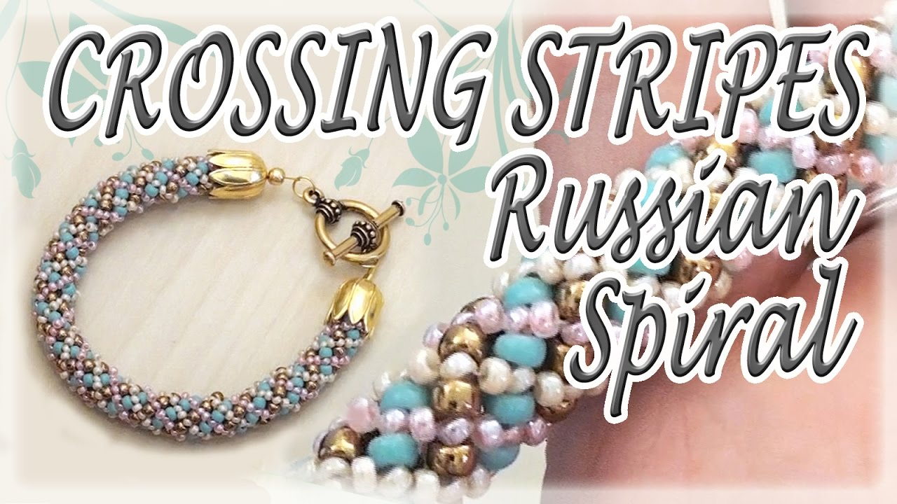 Crossing Stripes Russian Spiral Tutorial How To Make A Bracelet Beading You