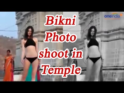 Bikini Photo shoot in Udaipur Temple creates controversy | Oneindia News