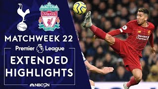 Tottenham Hotspur v Liverpool  PREMIER LEAGUE HIGHLIGHTS  1112020  NBC Sports