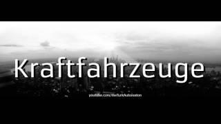 How to pronounce Kraftfahrzeuge Trunkenpolz Mattighofen in German